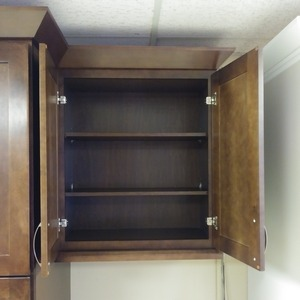 City Shaker Espresso Cabinet Interior & Crown