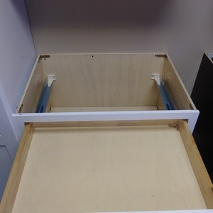 Dove White Shaker Cabinet Box and Slides